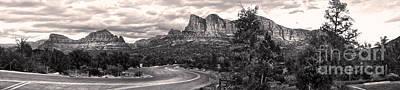 Sedona Arizona Black And White Panorama Art Print by Gregory Dyer