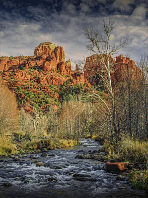 Cathedral Rock Sedona Arizona Photograph - Sedona Arizona By Cathedral Rock by Randall Nyhof