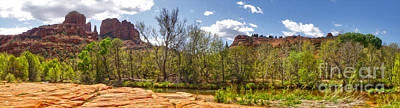 Sedona Arizona Cathedral Rock Panorama Art Print by Gregory Dyer