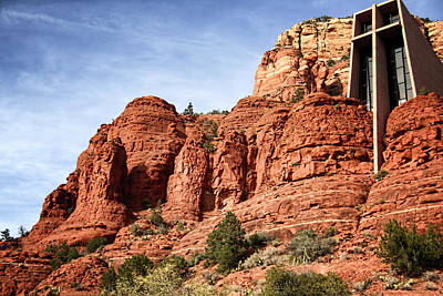 Cathedral Rock Photograph - Sedona Arizona - Church Of The Holy Cross by Jon Berghoff
