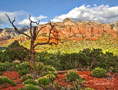 Sedona Arizona Dead Tree - 03 Art Print by Gregory Dyer