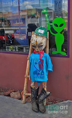 Photograph - Sedona Arizona Grey Alien by Gregory Dyer