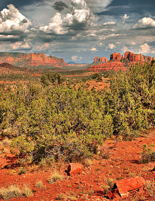 Landscapes Royalty-Free and Rights-Managed Images - Sedona Arizona Landscape by Gregory Ballos