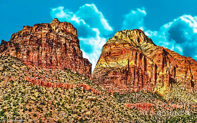 Painting - Sedona Arizona Secret Mountain Wilderness by Bob and Nadine Johnston