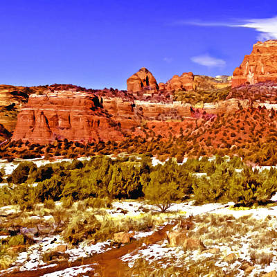 Sedona Arizona Secret Mountain Wilderness Art Print by Bob and Nadine Johnston