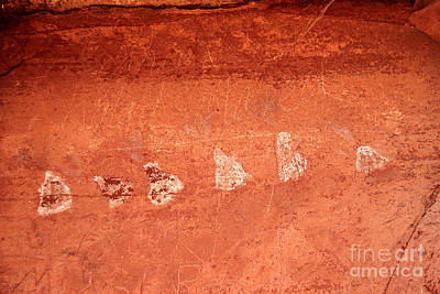 Digital Art - Sedona Arizona Volcanos Pictographs by Eva Kaufman