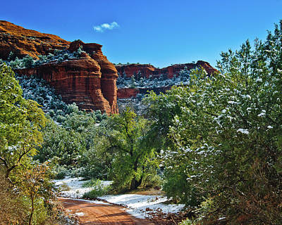 Print featuring the photograph Sedona Arizona - Wilderness Area by Bob and Nadine Johnston