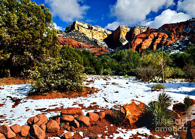 Print featuring the photograph Sedona Arizona - Wilderness by Bob and Nadine Johnston