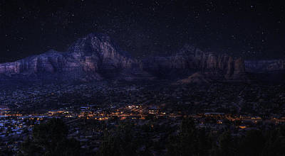 Photograph - Sedona By Night by Lynn Geoffroy