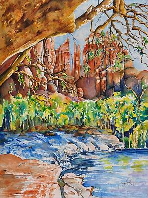 Sedona - Cathedral Rock Art Print by Joy Skinner