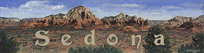 Sedona Art Print by Don  Langeneckert