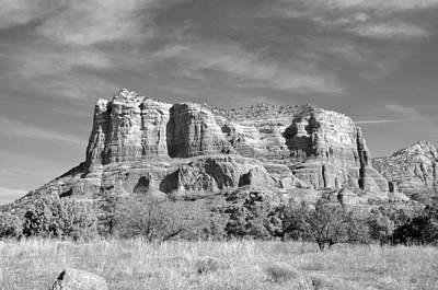 Photograph - Sedona In Black And White by Helen Haw