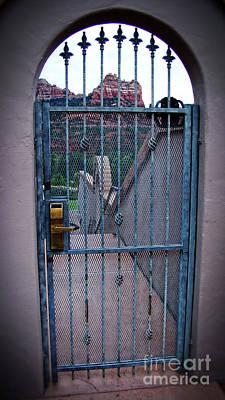 Sedona Iron Gate Entrance  Art Print by Beverly Guilliams