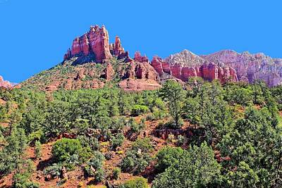 Photograph - Sedona Peaks by Jane Girardot