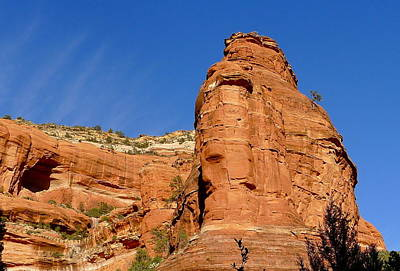 Photograph - Sedona Rock Face by Denise Mazzocco