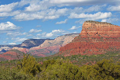 Photograph - Sedona Rock Formations by Lou Ford
