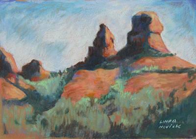 Painting - Sedona Sisters by Linda Novick