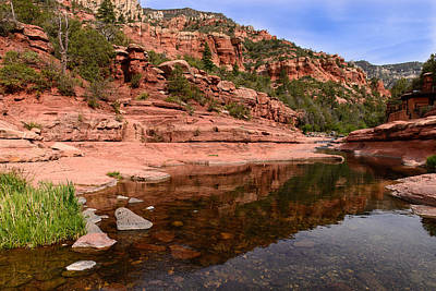 Photograph - Sedona Slide Rock by John Johnson