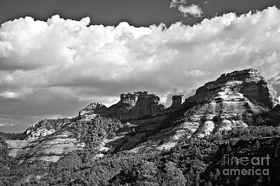 Photograph - Sedona Spring Welcome In Black And White by Lee Craig