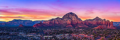 Mountain Sunset Mixed Media - Sedona Sunset by Michael Petrizzo