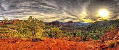 Sedona Photograph - Sedona Sunset Panorama by Daniel Zirakzadeh