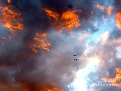 Sedona Sunset Ravens Art Print by Marlene Rose Besso