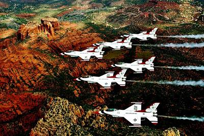 Photograph - Sedona Thunderbirds by Benjamin Yeager