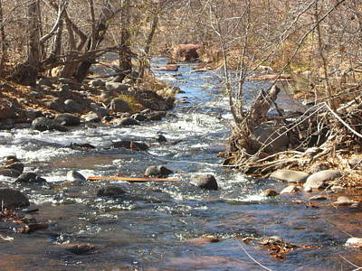 Photograph - Sedona Winter River by Angela Bushman