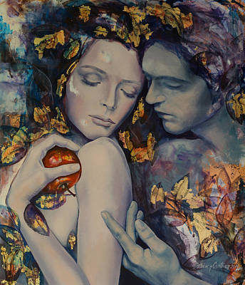 Seduction Painting - Seduction by Dorina  Costras