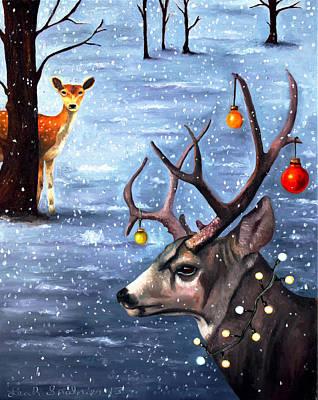 Snow Storm Painting - Seduction Edit 2 by Leah Saulnier The Painting Maniac