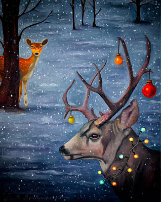 Snow Storm Painting - Seduction Edit 4 by Leah Saulnier The Painting Maniac