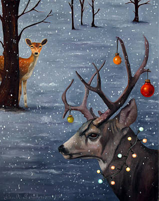 Mule Deer Fawn Painting - Seduction by Leah Saulnier The Painting Maniac