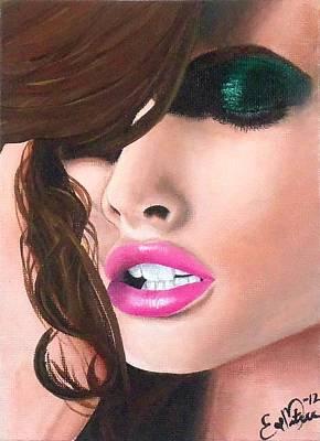 Seduction Art Print by Oddball Art Co by Lizzy Love