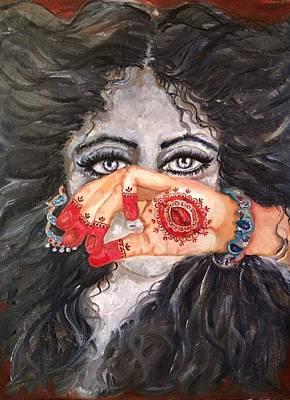 Seduction Art Print by Sangeetha Bansal