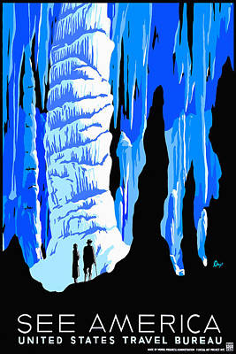 Cavern Mixed Media - See America Cave by David Wagner