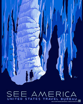 Photograph - See America - Vintage 1930s Travel Poster by Mark E Tisdale