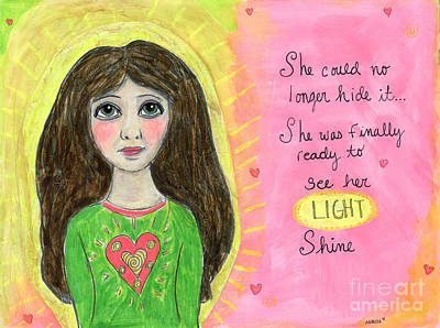 Painting - See Her Light Shine by AnaLisa Rutstein
