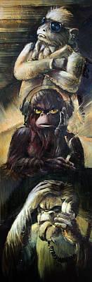 See No Evil Painting - See No by Vanessa Bates