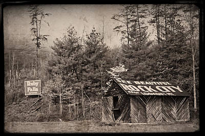 Tn Barn Photograph - See Rock City  by Debra and Dave Vanderlaan