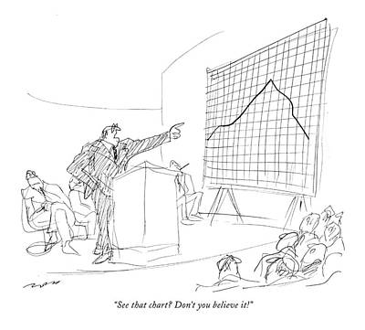 Director Drawing - See That Chart? Don't You Believe It! by Al Ross