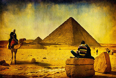 See The Pyramids - Egyptian Adventure Art Print by Mark E Tisdale