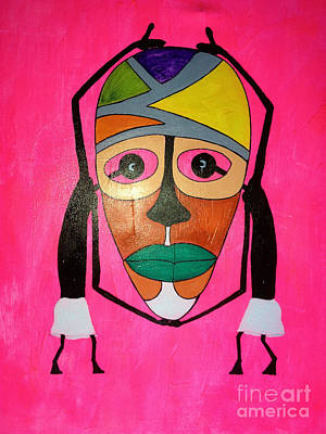 Painting - See Through Mask by Damion Powell