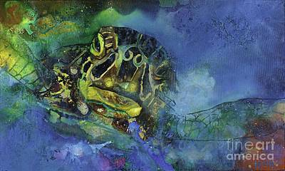 Hawaii Sea Turtle Painting - See. Turtle.  by Kasha Ritter