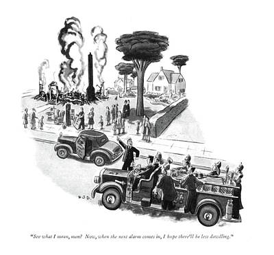 Fire Truck Drawing - See What I Mean by Robert J. Day