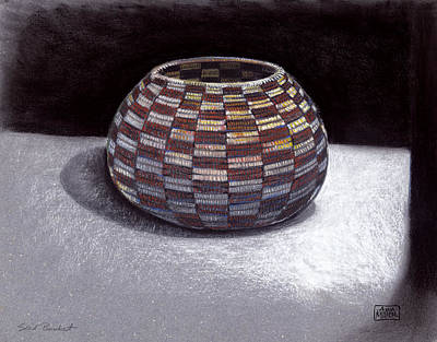 Ann Miller Wall Art - Drawing - Seed Basket by Ann Miller