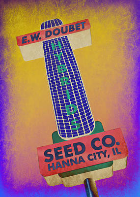 Food Web Photograph - Seed Company Sign Abstract by Stephen Stookey