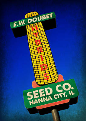 Food Web Photograph - Seed Company Sign by Stephen Stookey