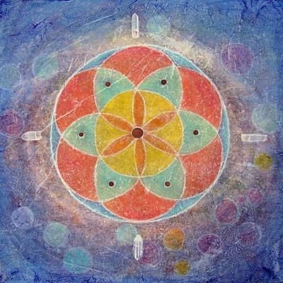 Painting - Seed Of Life Mandala by Janelle Schneider