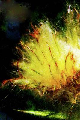 Art Print featuring the digital art Seedburst by Chuck Mountain