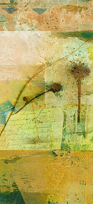 Seeds Collage Art Print by Ann Powell